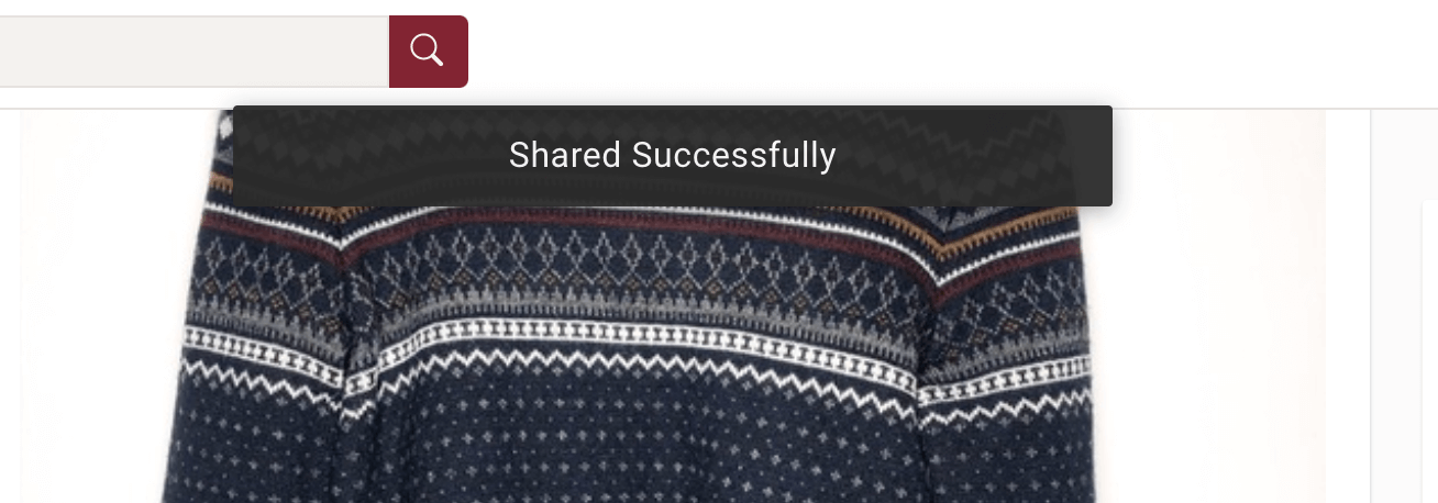 "Poshmark ""shared successfully"" popup"